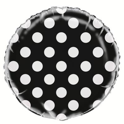 Polka Dots Midnight Black Foil Balloon