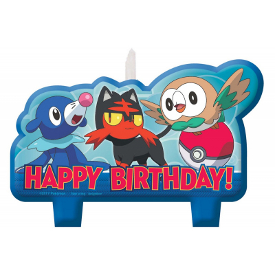 Pokemon Core Birthday Candle Set 4PK