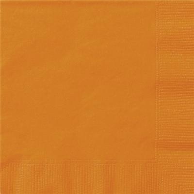 Beverage Napkin Orange 20PK
