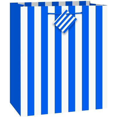 Stripes Royal Blue Gift Bag