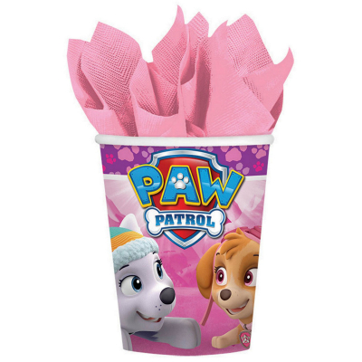 Paw Patrol Girl 266ml Cups 8PK