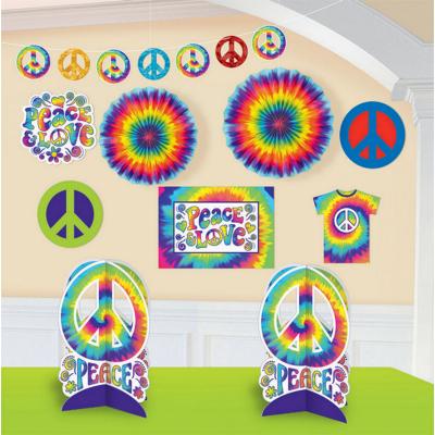 Feeling Groovy Room Decorations Kit 10PK