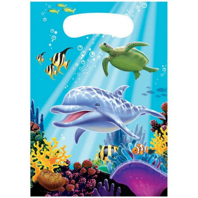 Ocean Party Loot Bags 8PK