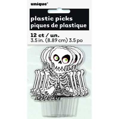 Skeleton Cupcake Toppers 12PK