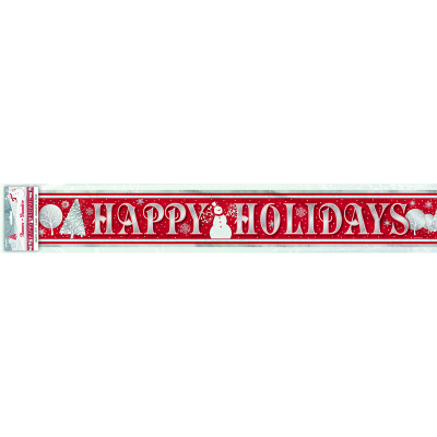 Frosted Holiday Foil Banner