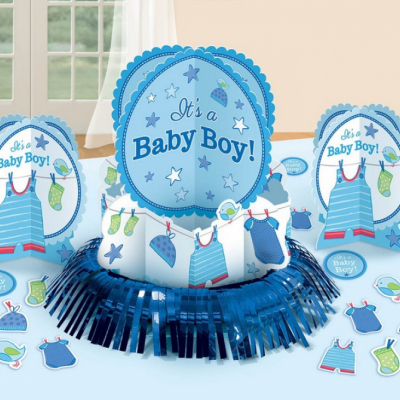 Shower with Love Boy Table Decorations Kit 23PK