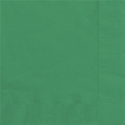 Beverage Napkins Green 20PK