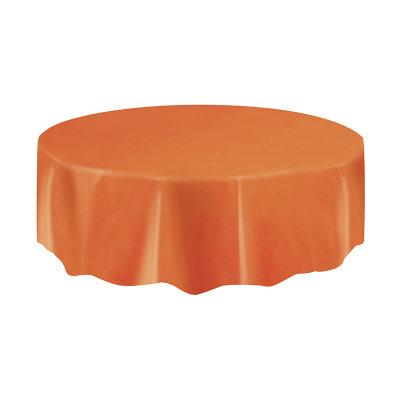 Round Plastic Tablecover Orange