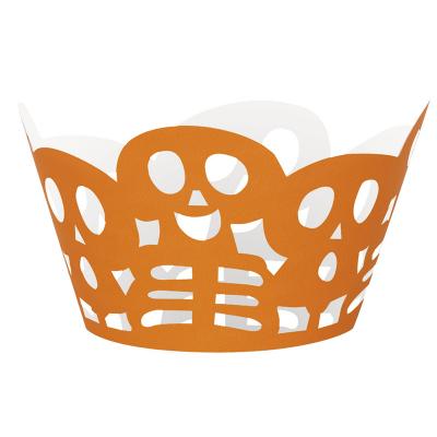 Skeleton Cupcake Wrap 12PK