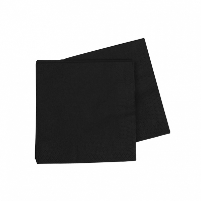 Five Star Cocktail Napkin 25cm Black 40PK