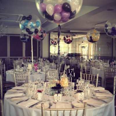 90cm Clear Latex Balloon with Helium & Weight & Small Balloon