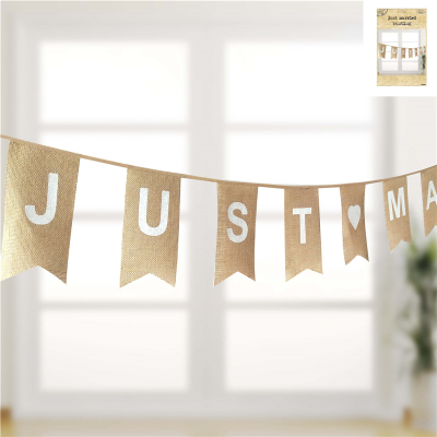 Just Married Bunting 11PK