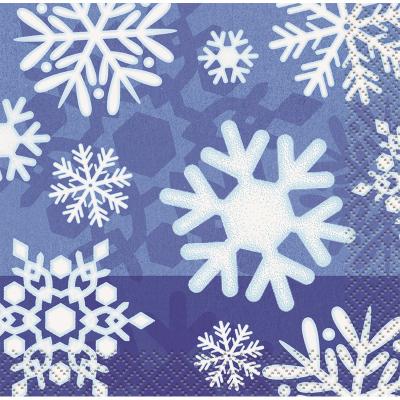 Snowflake Beverage Napkins 16PK