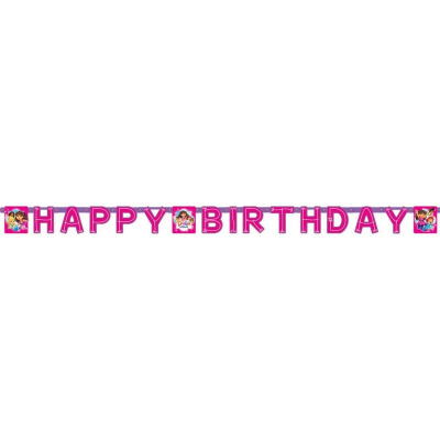 Dora And Friends Happy Birthday Banner Printed Paper