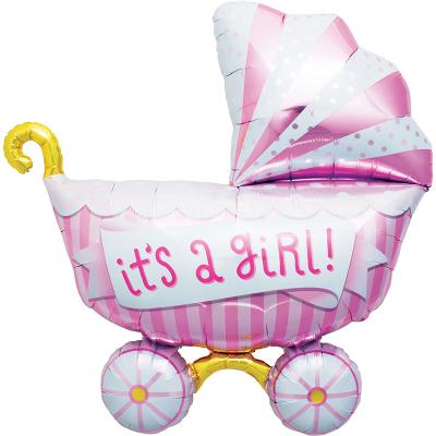 102cm It's A Girl Buggy Foil Balloon