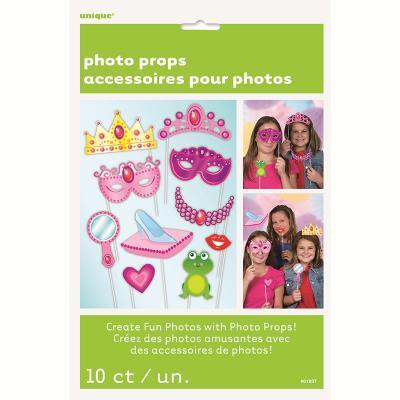 Photo Prop Princess Booth Game 10PK