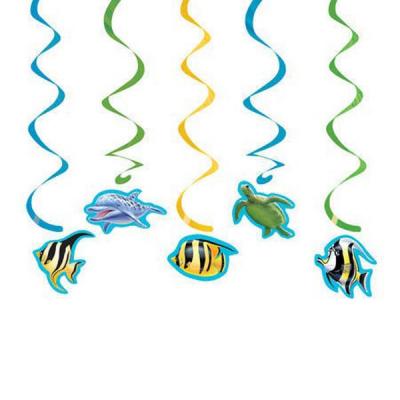 Ocean Party Dizzy Danglers Hanging Swirls 5PK