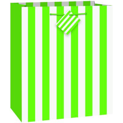 Stripes Lime Green Gift Bag