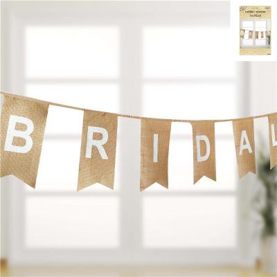 Bridal Shower Bunting Hessian 12PK