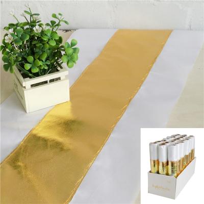 2 Metres Metallic Gold Table Runner