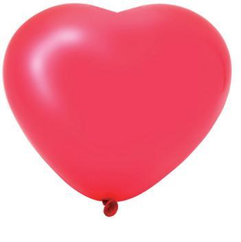 Heart Shaped Latex Balloon 20PK