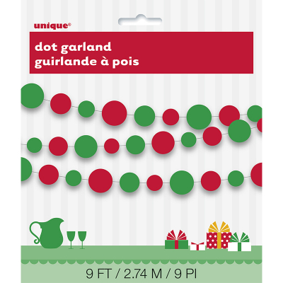 Garland Dots Red & Green