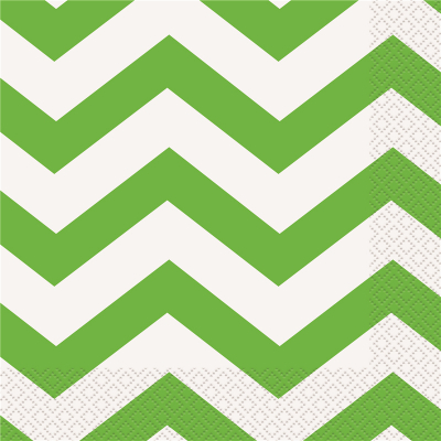 Chevron Luncheon Napkins Lime Green 16PK