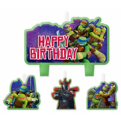 Teenage Mutant Ninja Turtles Birthday Candle Set 4PK