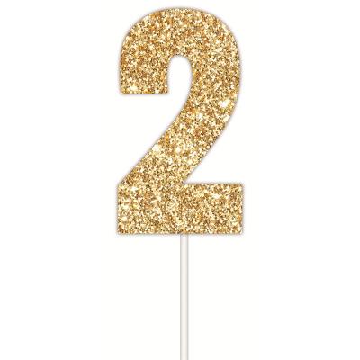 Golden Glitter Cake Topper 2