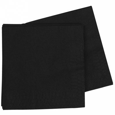 Five Star Dinner Napkin 40cm Black 40PK