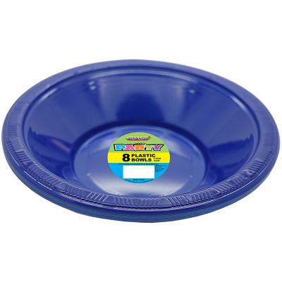 Plastic Bowls 18cm Navy Blue 8PK