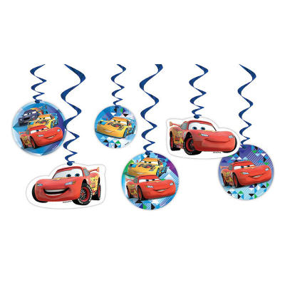 Disney Cars Hanging Decoration 6PK
