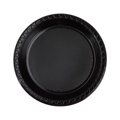 Five Star Round Snack Plate 17cm Black 20PK