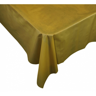 Five Star Rectangle Tablecover 2.7m Metallic Gold