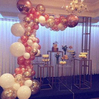 Organic Half Arch ( with Confetti Balloon & Foil Ball Balloon)