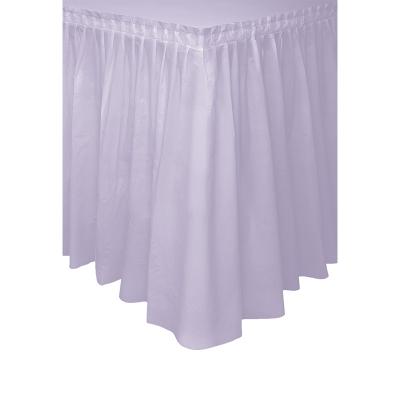 Plastic Tableskirt Lavender