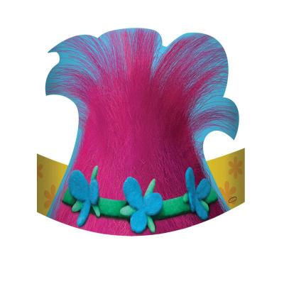 Trolls Die Cut Cardboard Hats 8PK
