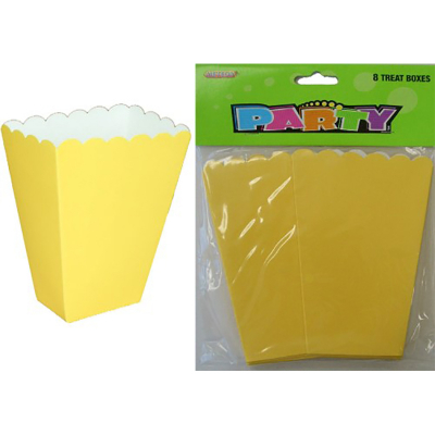Treat Boxes Yellow 8PK