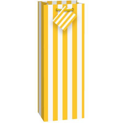 Stripes Yellow Wine Bag