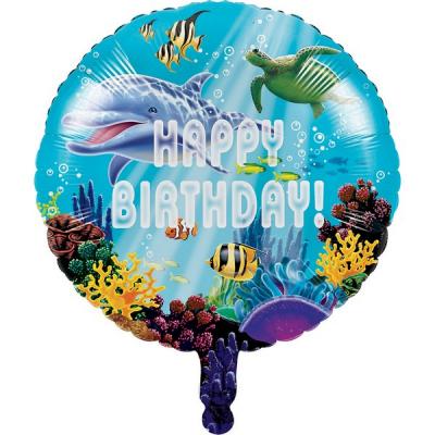 Ocean Party Happy Birthday 45cm Foil Balloon