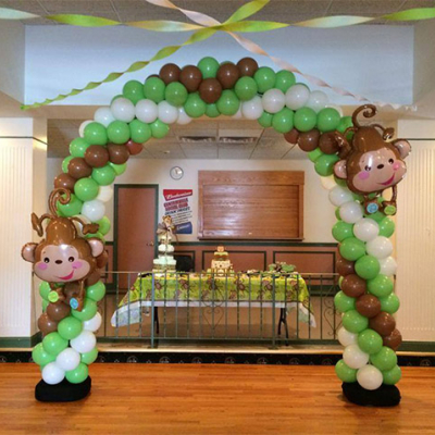 Continuous Curve Balloon Arch ( with Large Foil Balloon )