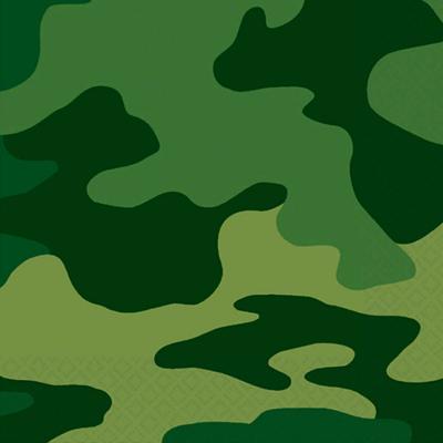 Camouflage Beverage Napkins 16PK