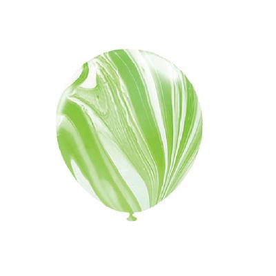 30cm Helium Quality Latex Balloons Marble Green 10PK
