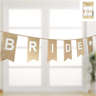 Bride To Be Bunting In Hessian 16PK
