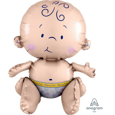 Multi Sitting Baby Shape Foil Balloon