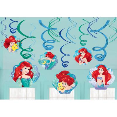 The Little Mermaid Ariel Dream Big Swirl Decoration Value Pack 12PK