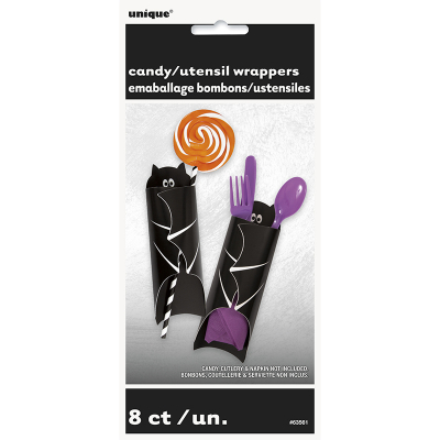 Bat Candy Utensil Wrappers 8PK