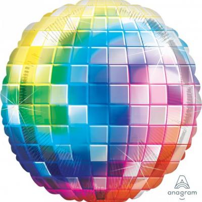 70`s Jumbo Shape Disco Ball Fever Foil Balloon