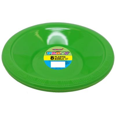 Plastic Bowls 18cm Lime Green 8PK