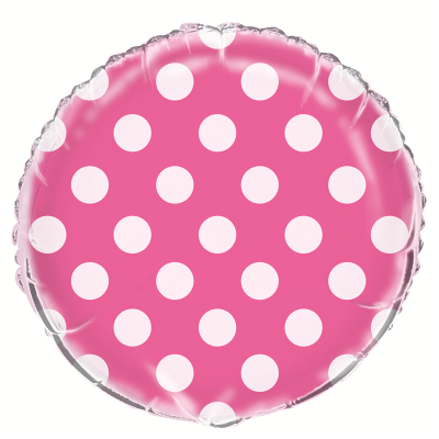 Polka Dots Hot Pink Foil Balloon